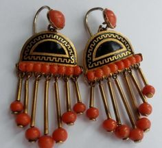 Incredible Victorian Estruscan Revival earrings.