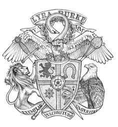 Crests and Coats of Arms by Jordan Spilman, via Behance