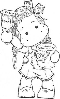 Fixed Upper 2018 Tildawallpainting Colouring Pages, Coloring Pages For Kids, Coloring Sheets, Coloring Books, Penny Black, Pony 2, Marker Art, Copics, Drawing For Kids