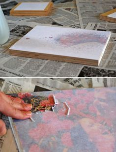DIY Photo Transfers on Wood - Do this for the wedding party info