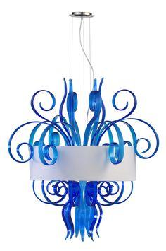 Blue Art Glass Pendant