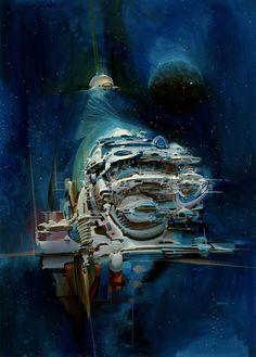 Science Fiction art by John Berkey. My Blogs: Beautiful WarbirdsFull AfterburnerThe Test PilotsP-38 LightningNasa HistoryScience Fiction WorldFantasy Literature & Art