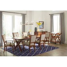 Brown Cherry 7 Piece Dining Set - Simply Urban Collection