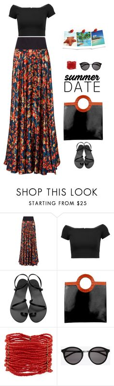 """""""Date Night"""" by sherry7411 on Polyvore featuring Zac Posen, Alice + Olivia, Ancient Greek Sandals, Givenchy, Berry and Yves Saint Laurent"""