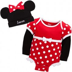 Disney Cuddly Bodysuit™. With Minnie's trademark polka dots, it'll be easy to spot your little one.