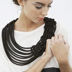 Climbing Strand Necklace Black by alienina // my happiest design discovery today