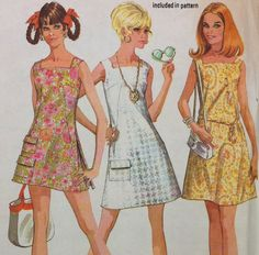 1960s Vintage Sewing Pattern McCalls 9784 Summer Dress with Pockets Bust 32 1/2. $3.00, via Etsy.