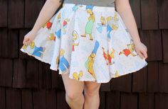 How to Make a Circle Skirt From an Old Bedsheet (No Pattern Required!)