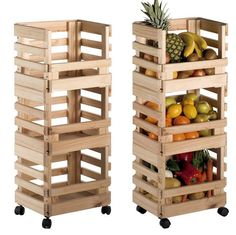 Make these simple junk-style fruit crate shelves and add some more storage space to your home. Wooden Pallet Furniture, Wooden Crates, Handmade Furniture, Diy Furniture, Luxury Furniture, Antique Furniture, Rustic Wood Shelving, Wood Shelves, Crate Shelves