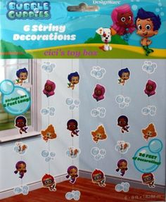 Bubble Guppies Hanging Party Decorations, http://www.amazon.com/dp/B00DK4F06C/ref=cm_sw_r_pi_awd_ljZosb1GEYMVN
