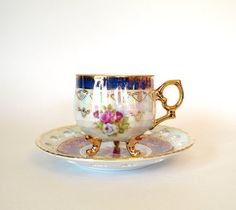 Sadler Teapot with Pink Roses and Gold & Bonus by HouseofLucien