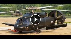 "The Piasecki X-49 ""Speedhawk"" is a twin-engined and four-bladed helicopter for U.S military with its high forward-swept wing concept and a"