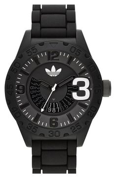 adidas Originals 'Newburgh' Silicone Strap Watch, 48mm available at #Nordstrom