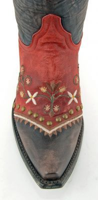 Women's Old Gringo Vera Boots Chocolate And Red - #CowgirlChic