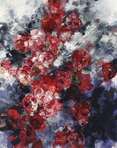 A flower isn't just a flower. Vancouver artist Bobbie Burgers' paintingsrecontextualize flowers with her wonderfully emotionaland provocative brush strokes and brilliant use of scale.I'm absolutely obsessed with their size, each pieces ranges from 5-7 feet, as they add to the drama and