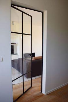 prijs gietijzeren deur - Google zoeken Steel Doors And Windows, Doors And Floors, Condo Living, Home Living Room, Door Design, House Design, Cocina Office, Funky Decor, Living Place