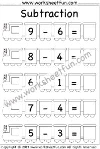 Subtraction Worksheets / FREE Printable Worksheets Subtraction Kindergarten, Free Kindergarten Worksheets, Free Printable Worksheets, Worksheets For Kids, Math Worksheets, Free Printables, Kindergarten Addition, Number Line Subtraction, Addition And Subtraction Worksheets