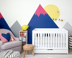 Use Paint and Decals to Make a Big Statement on a Budget   Affordable Nursery Decorating Ideas