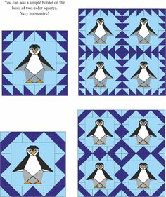 Penguin quilt block, Manual for beginners, PDF | Craftsy