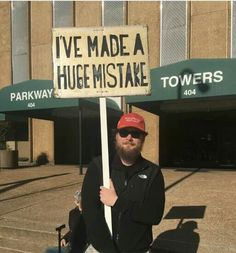 """James Walker, an """"honest"""" Tennessee man who voted for Donald Trump has recognized his HUGE mistake and is letting America know just how badly he regrets his decision.  He explained his decision to a reporter:  """"This is the first step: showing up and being honest.""""  SHARE to show him some love and welcome him to the """"good side."""""""