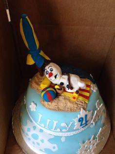 Olaf Cake for Summer