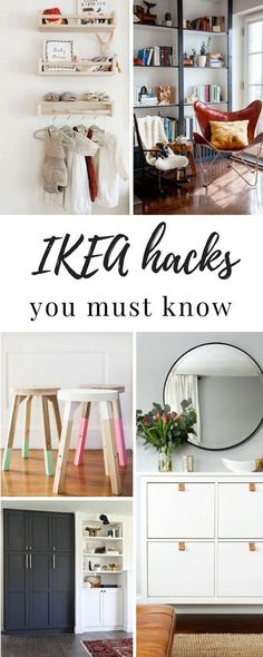 You have to see these amazing IKEA hacks. Here are 7 IKEA hacks you should know…. You have to see these amazing IKEA hacks. Here are 7 IKEA hacks you should know. These will inspire you, save you money and give you ideas next time you're at IKEA! Hacks Ikea, Ikea Furniture Hacks, Diy Hacks, Furniture Ideas, Ikea Organization Hacks, Furniture Storage, Organizing Tips, Pallet Furniture, Ikea Kallax Hack