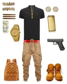 """-Mall Flow-"" by leonar-287 ❤ liked on Polyvore featuring Polo Ralph Lauren, G-Star Raw, Mister, Jamie Wolf, Goldgenie, MCM and Versus"