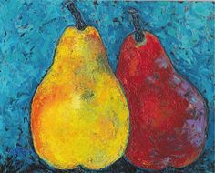Pears Palette Knife Kitchen Dining Modern Home by RickyArtGallery, $49.00