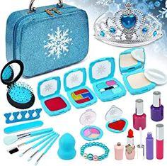 Amazon.com : pretend kids makeup kit for girl Makeup Kit For Kids, Kids Makeup, Barbie Doll Accessories, Kids Hair Accessories, Frozen Birthday Dress, Barbie Pegasus, Phone Watch For Kids, My First Disney Princess, Makeup Toys