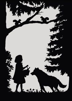 Fairy Tale Postcards by Laura Barrett - Illustration Portfolio - London Based Freelance Silhouette & Pattern Illustrator Silhouettes, Big Bad Wolf, Shadow Puppets, Illustration, Scroll Saw Patterns, Silhouette Art, Kirigami, Red Riding Hood, Pyrography
