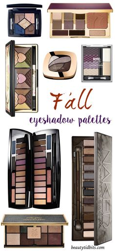 Whatever your mood, here are 10 eyeshadow palettes perfect for fall!
