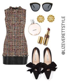 """""""She's a Socialite"""" by lizeverettstyle on Polyvore featuring Alexander McQueen, Chanel and Le Specs"""