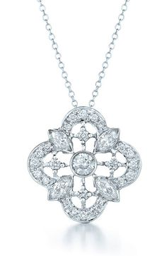 Kwiat 'Clover' Diamond & White Gold Pendant Necklace available at #Nordstrom