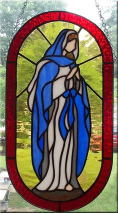 Image result for virgin mary stained glass images