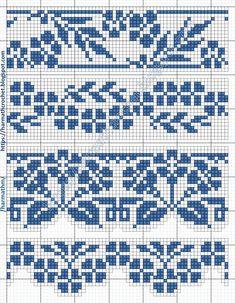 Cross Stitch Letters, Cross Stitch Tree, Cross Stitch Borders, Cross Stitch Designs, Cross Stitching, Fair Isle Knitting Patterns, Knitting Charts, Crochet Patterns, Fair Isle Chart