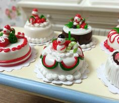 Hey, I found this really awesome Etsy listing at https://www.etsy.com/listing/116970476/dollhouse-miniature-christmas-cake