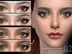 Eyelid 201702 by S-Club WM at TSR • Sims 4 Updates