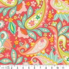 This is the main fabric for Baby Girl's bedding.  I LOVE it!