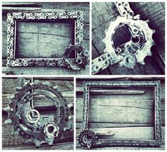 Custom Bike Chain Frame or Chalkboard Copper Artwork, Bike Craft, Framed Chalkboard, Recycled Rubber, Conceptual Design, Frame Crafts, Store Displays, Cool Furniture, Urban Furniture
