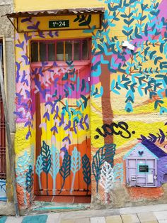 Bogotá Colombia - Doors and Street Art   Graffiti – This is from the La  Candelaria 14c101b05