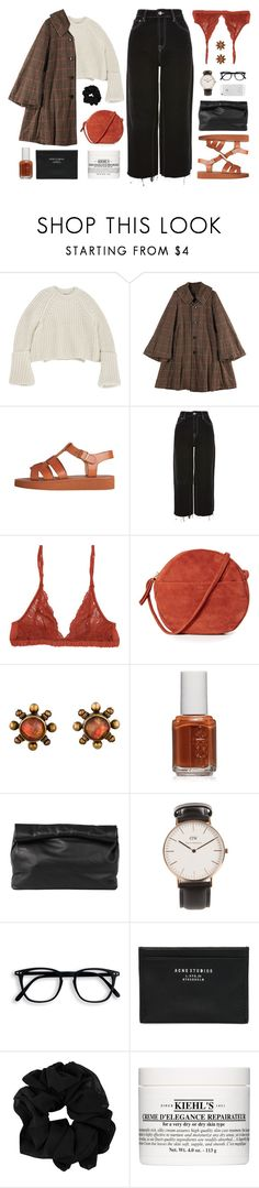 """""""statement coat 11:08 p.m."""" by yuelle ❤ liked on Polyvore featuring Zucca, Topshop, Aubin and Wills, BAGGU, Stephen Dweck, Essie, Marie Turnor, Daniel Wellington, Acne Studios and Kiehl's"""