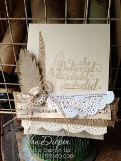 Creative inspiration:  I'd like to use stamped white doves' flight feathers that our doves have naturally mounted.