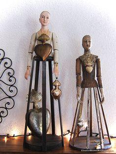 Santos Dolls, Santos Crowns, Cage Dolls,