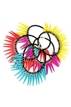 Neon Color Spike Hair Band    $12.99