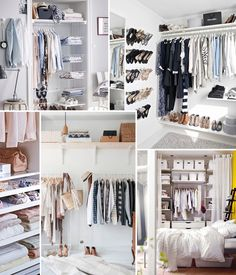 Inspiration and advice to adjust your dressing room - Organiser Son Dressing, Armoire Dressing, Dressing Room, Deco Studio, Wardrobe Rack, House Plans, Sweet Home, How To Plan, Bedroom