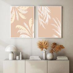 Frame Wall Decor, Wall Art Decor, Room Decor, Digital Art Beginner, Beige Art, Simple Acrylic Paintings, Leaf Wall Art, Minimalist Painting, Bedroom Furniture Design