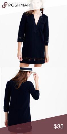 JCrew Black Cotton Embroidered Tunic. JCrew Black Cotton Embroidered Tunic. Can be worn as a coverup, dress or tunic. Brand new. Never worn. J. Crew Swim Coverups