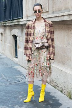 The #1 Dress-and-Boot Combo for Colder Weather via @WhoWhatWearUK