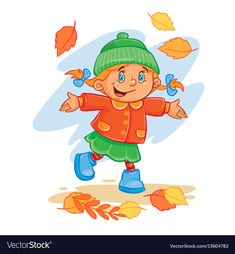 Buy Vector Icon of Small Child Throws Up the Fallen by vectorpocket on GraphicRiver. Vector icon of small child in autumn clothes throws up the fallen leaves. Design element, print for T-shirts Summer Season Drawing, Vector Icons, Vector Free, Autumn Leaves, Fallen Leaves, Autumn Activities, Design Elements, Childhood, Clip Art