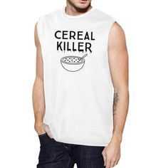 Purchase 365 Printing Cereal Killer Tank Top Mens White Funny Muscle Tee Shirt Halloween from Kim on OpenSky. Halloween Maze, Halloween Parade, Unique Halloween Costumes, Spirit Halloween, Cereal Killer, Muscle T Shirts, Costume Shirts, Simple Shirts, Mens Tees